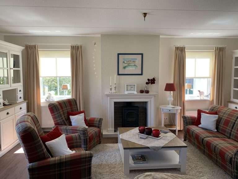 De woonkamer van Buitenplaats 45 (Callantsoog)